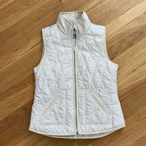 Old Navy Quilted Zipper Vest White Women's Size XS